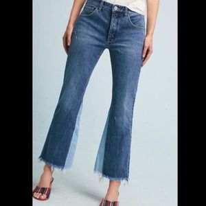 Pilcro and the Letterpress Ankle Crop Raw Hem Jean